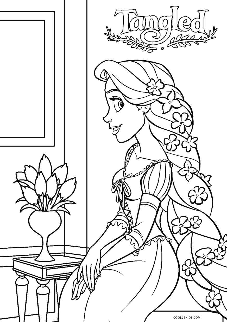 Coloring Pages Of Rapunzel From Tangled
