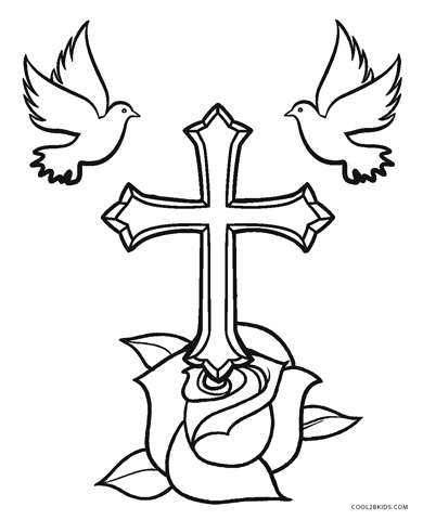 cross coloring pages for free - photo#30