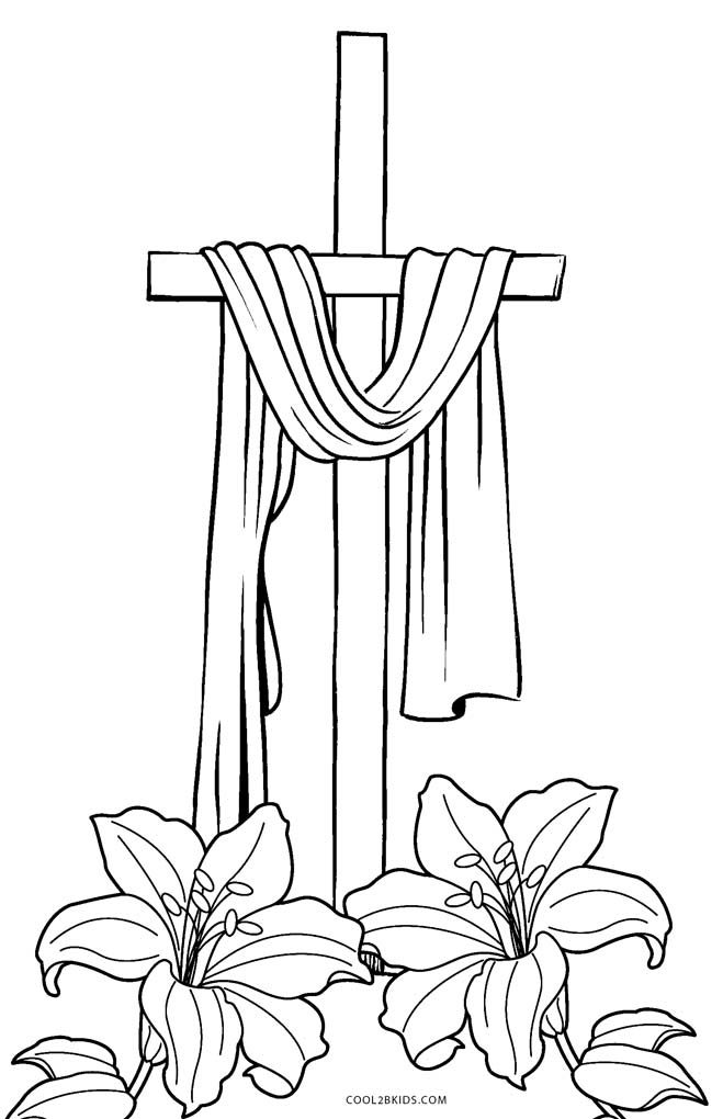 cross coloring pages for free - photo#7