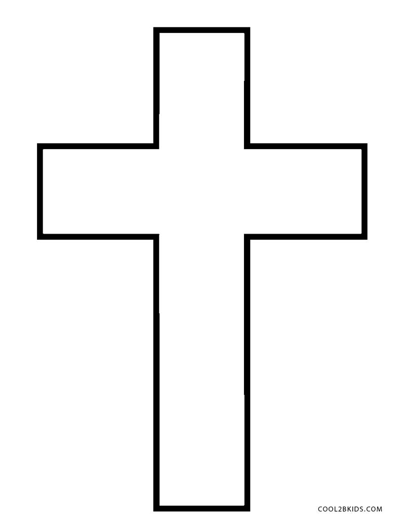 cross coloring pages for free - photo#28