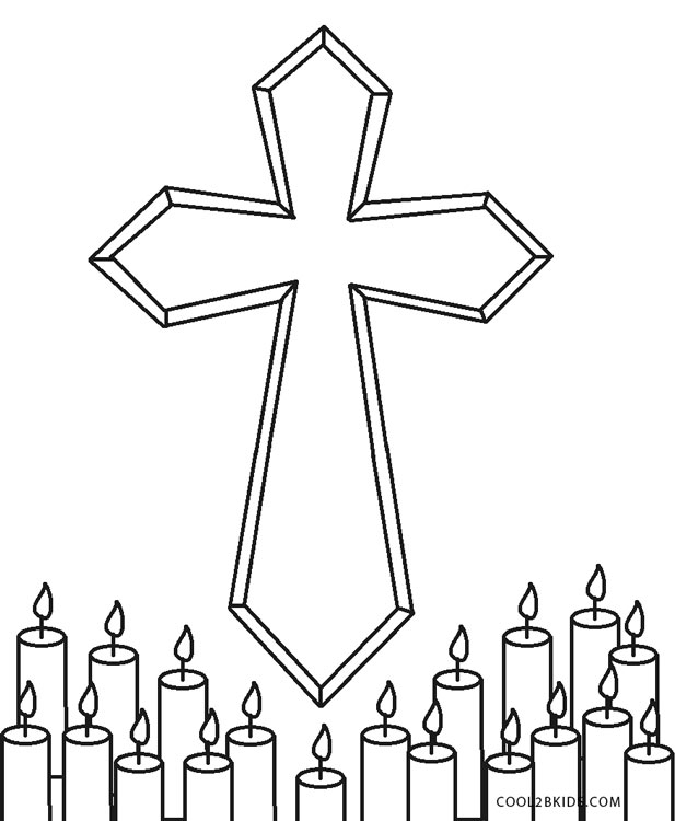 cross coloring pages for free - photo#38