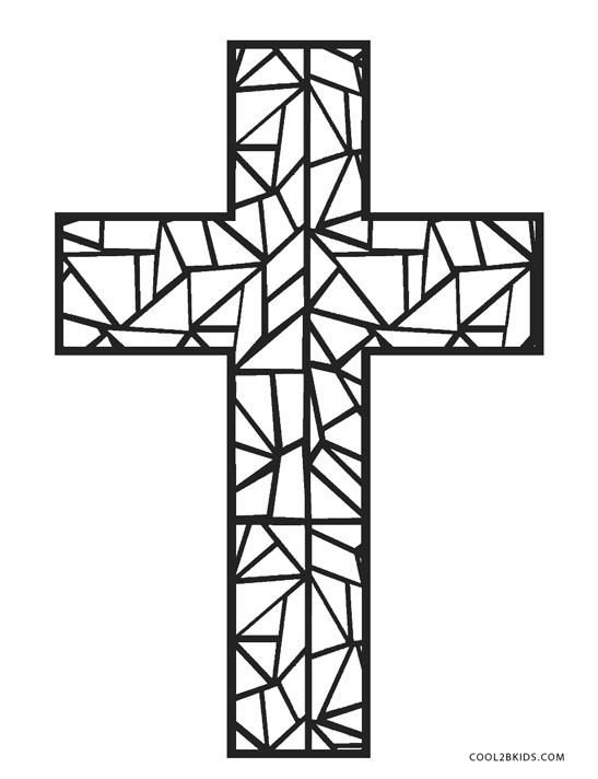 coloring pages of cross free printable cross coloring pages for kids cool2bkids