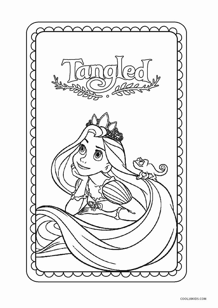 Free Printable Tangled Coloring
