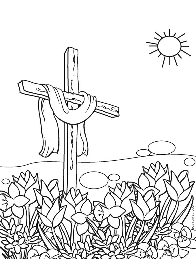 cross coloring pages for free - photo#10