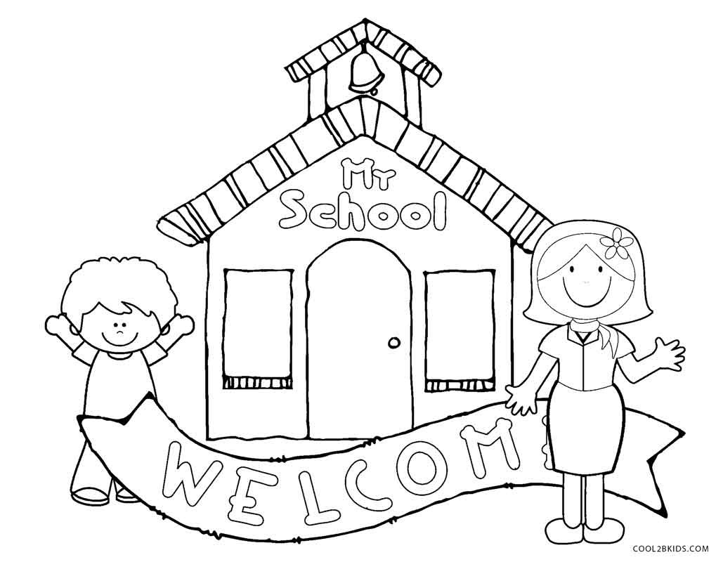 kindergarten coloring pages school - photo#1