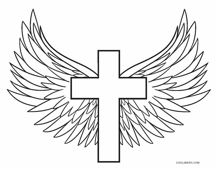 cross coloring pages for free - photo#9