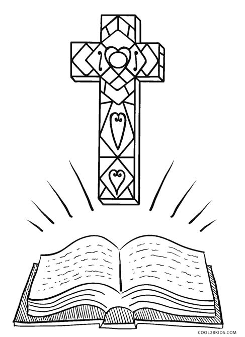 cross coloring pages for free - photo#36