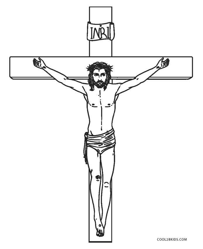 On The Cross Coloring Page