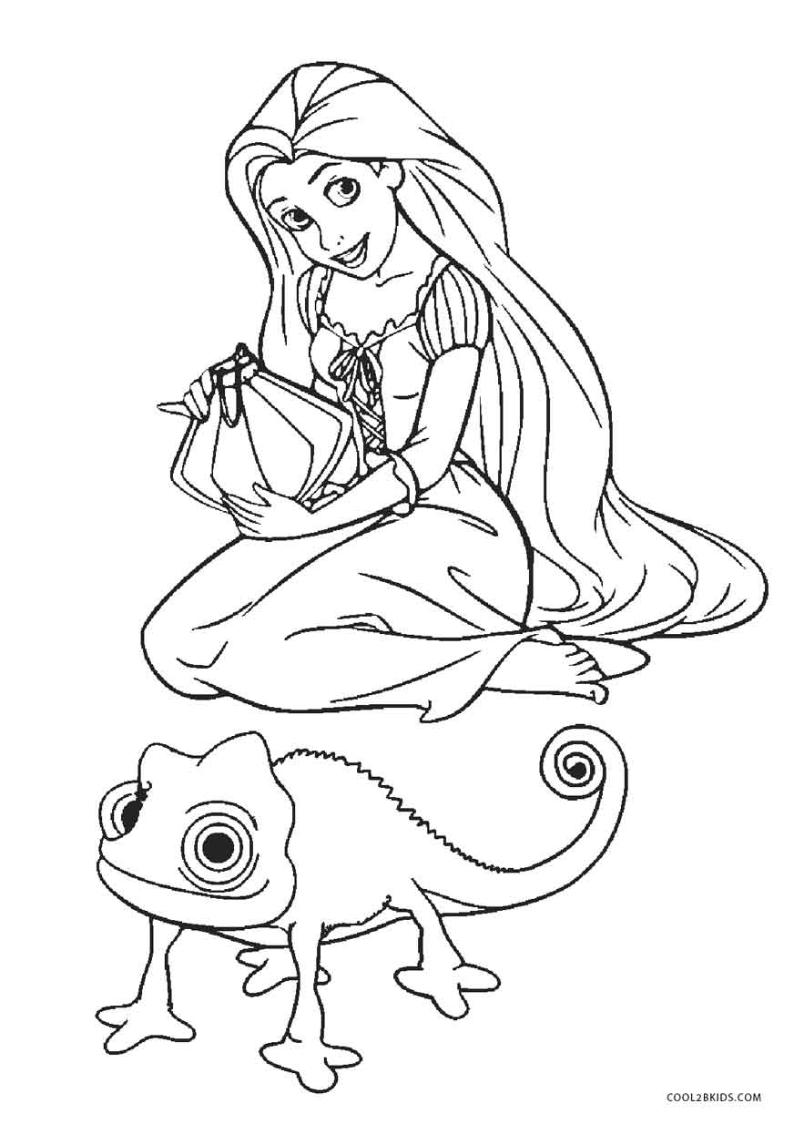 picture about Rapunzel Printable Coloring Pages identified as Free of charge Printable Tangled Coloring Web pages For Youngsters Awesome2bKids