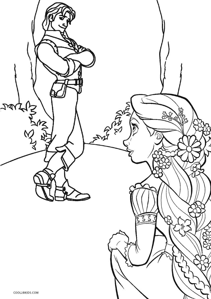 Printable Tangled Coloring Pages