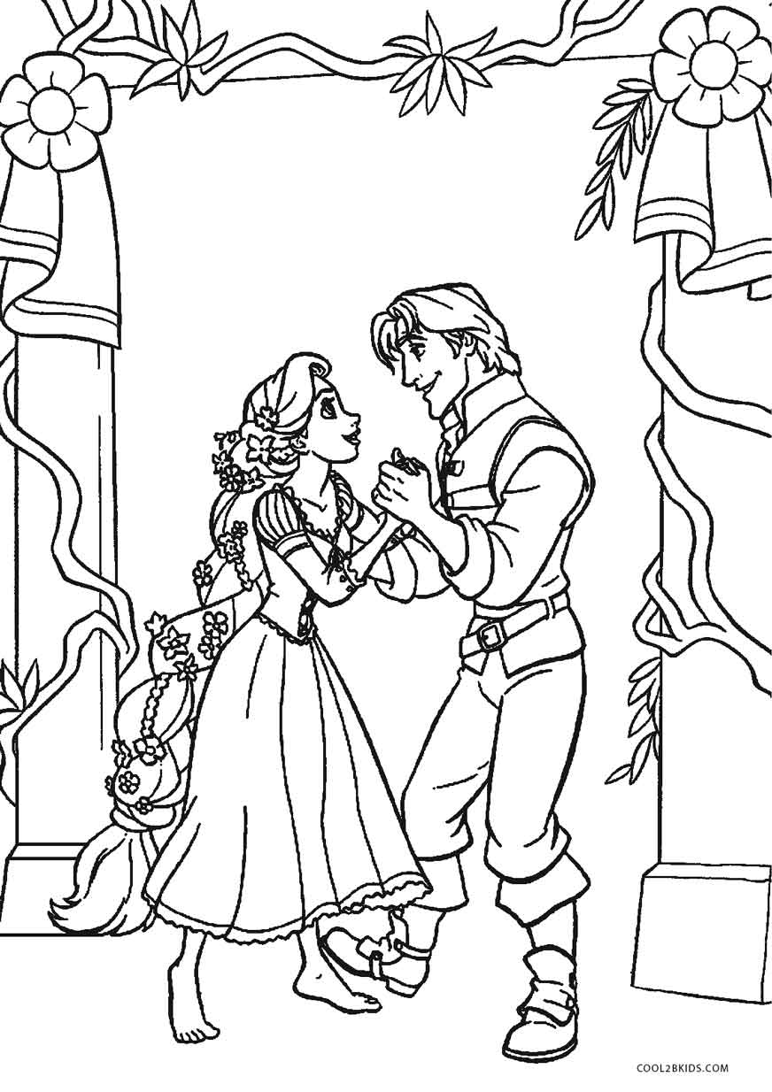 Free printable tangled coloring pages for kids cool2bkids for Tangled coloring pages