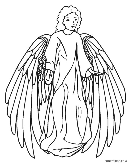 free chldrens angel coloring pages - photo#1