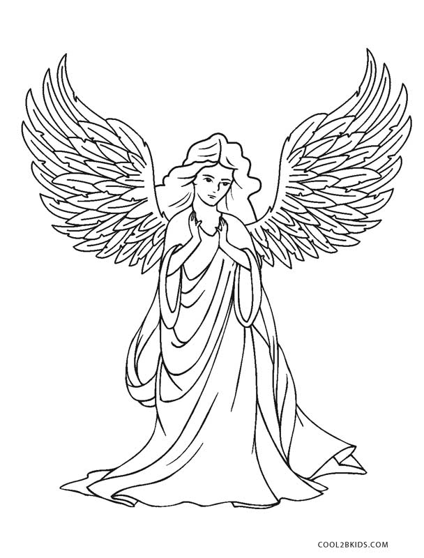 Angel Coloring Pages For Adults Www Robertdee Org