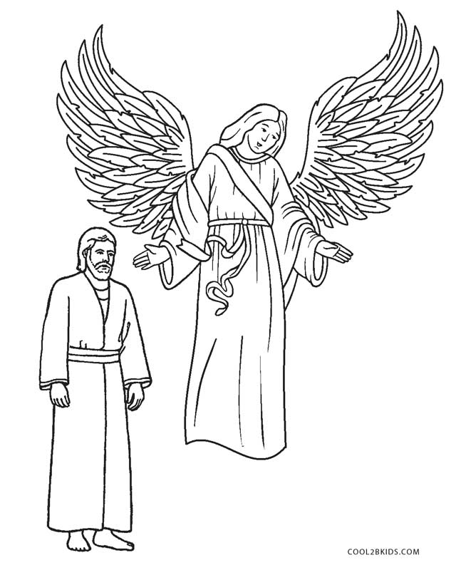 angel visits joseph coloring page free printable angel coloring pages for kids cool2bkids