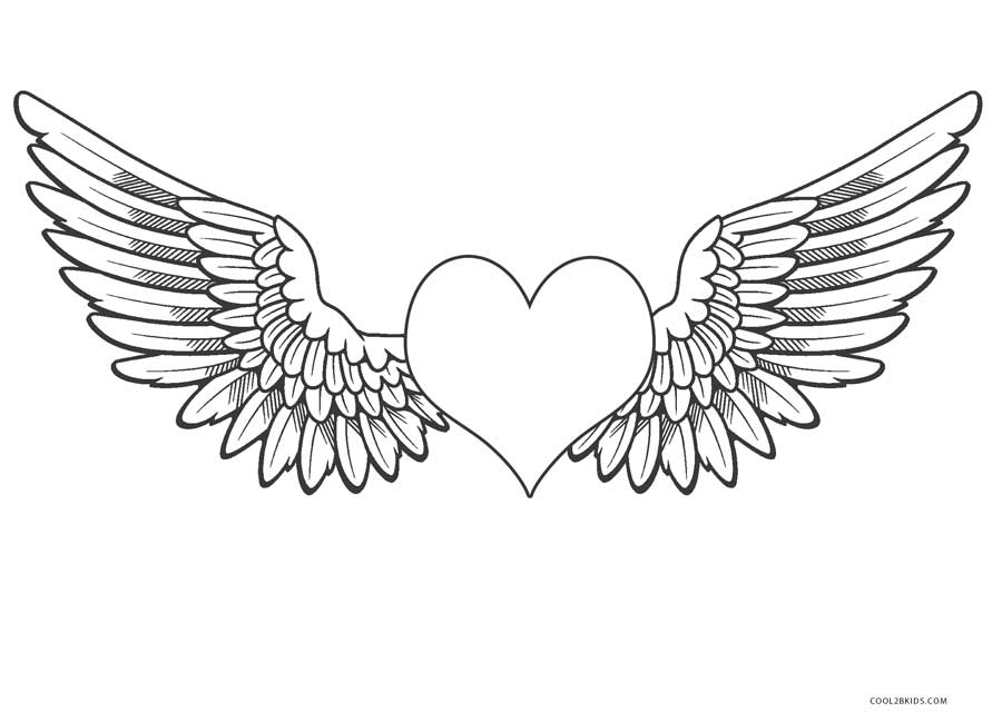 Free printable angel coloring pages for kids cool2bkids for Coloring pages of wings