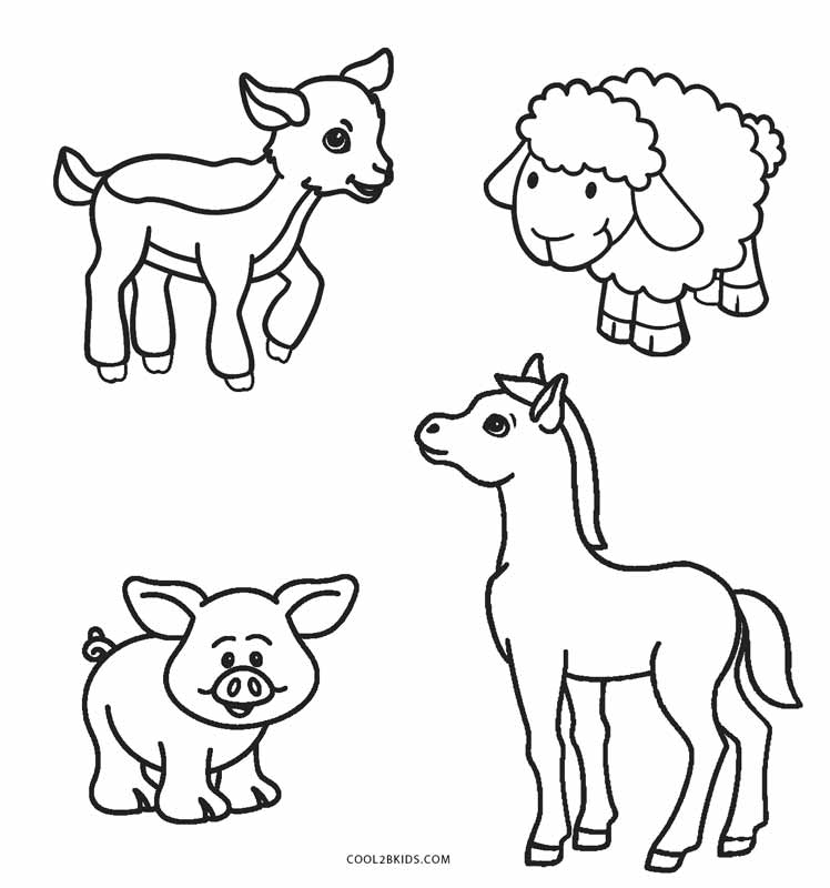 free printable farm animal coloring pages for kids cool2bkids. Black Bedroom Furniture Sets. Home Design Ideas