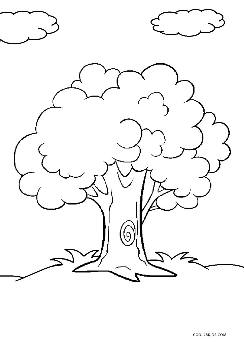 Free Printable Tree Coloring Pages