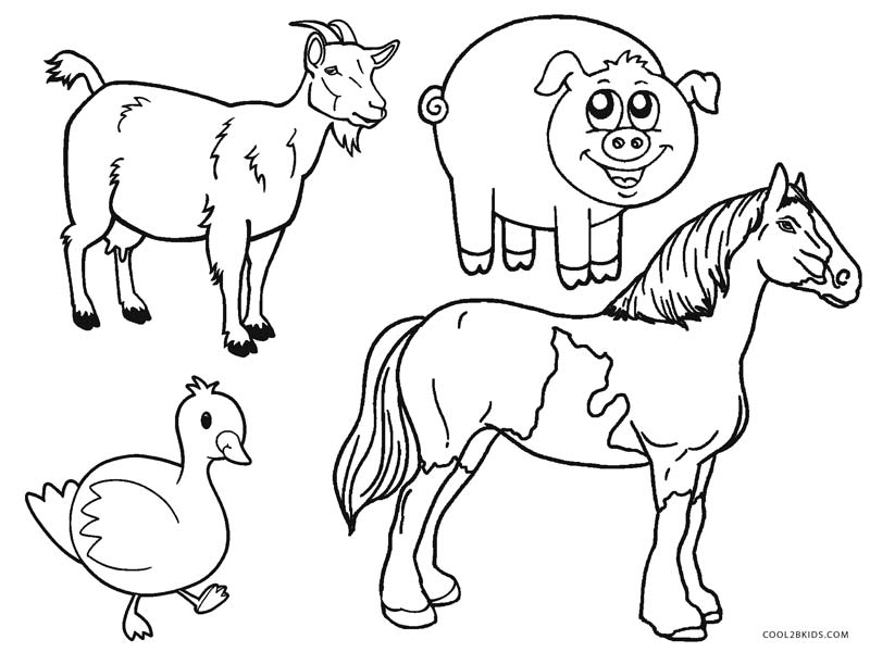 Free Printable Farm Animal Coloring Pages For Kids ...