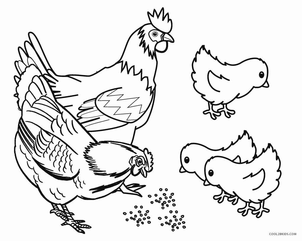 Farm animals coloring pages to print