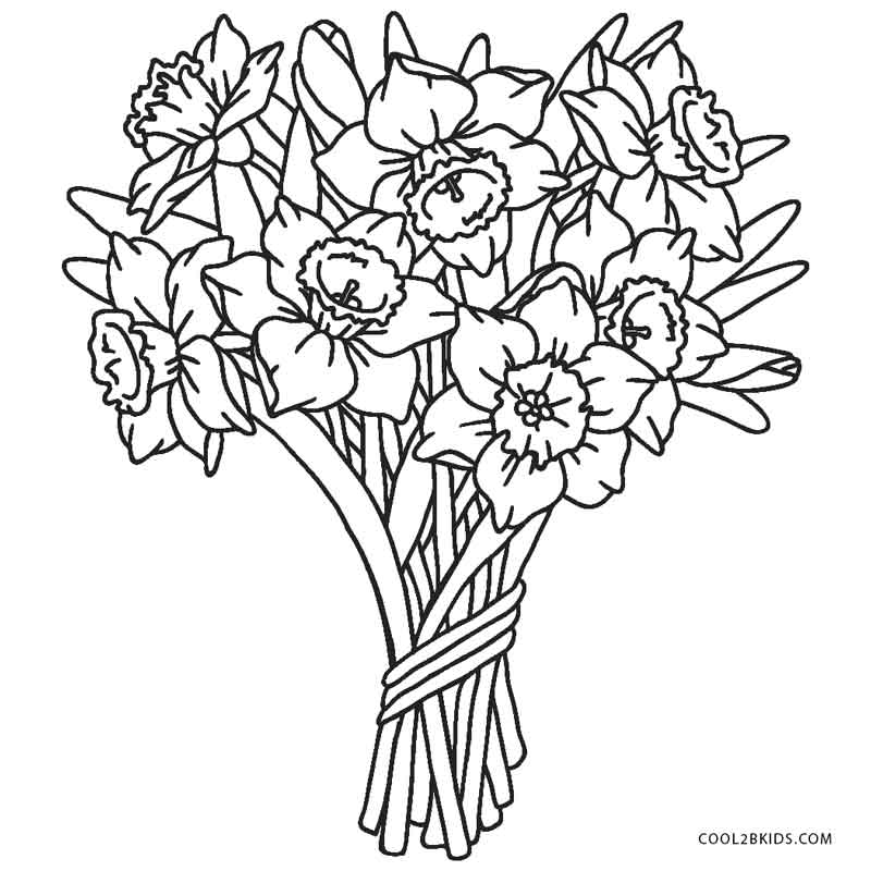 Handy image with regard to printable flowers to color