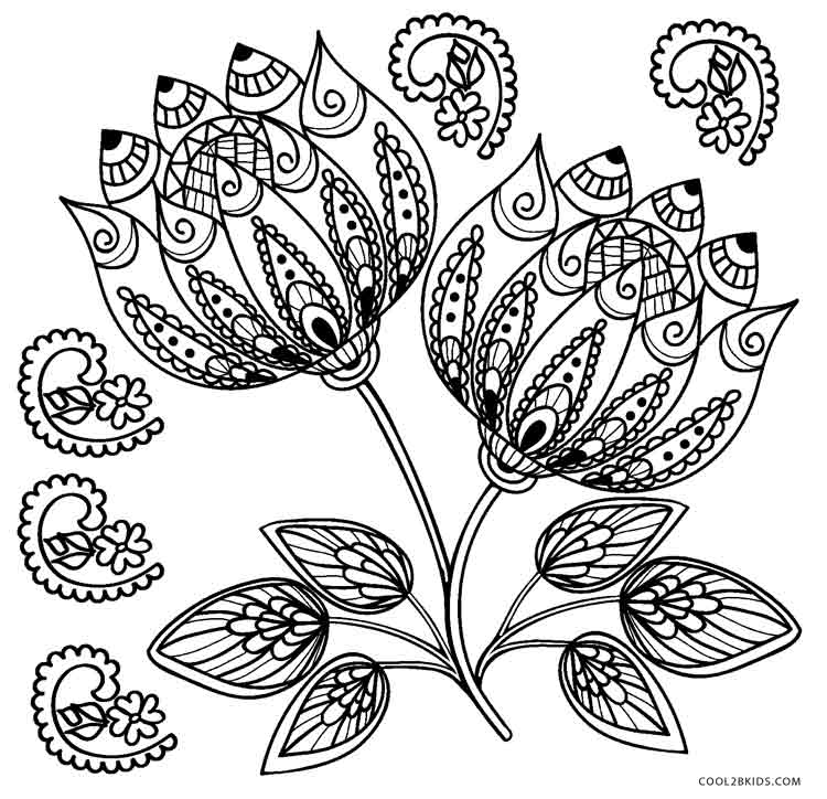 Free Printable Flower Coloring Pages For Kids | Cool13bKids