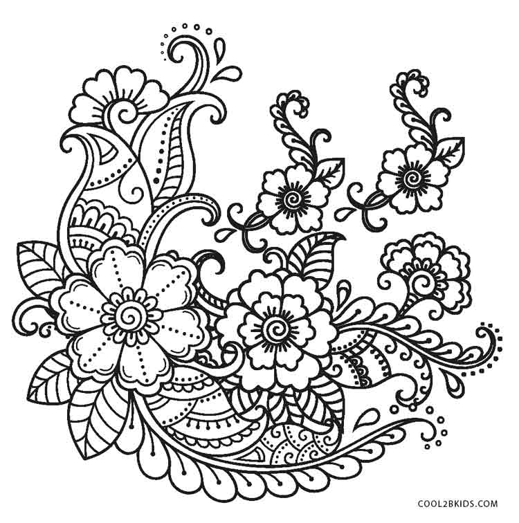 free printable flower coloring pages for kids cool2bkids. Black Bedroom Furniture Sets. Home Design Ideas