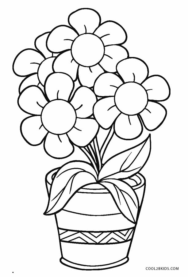 pots coloring pages | Free Printable Flower Coloring Pages For Kids | Cool2bKids