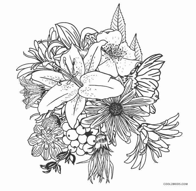 - Free Printable Flower Coloring Pages For Kids