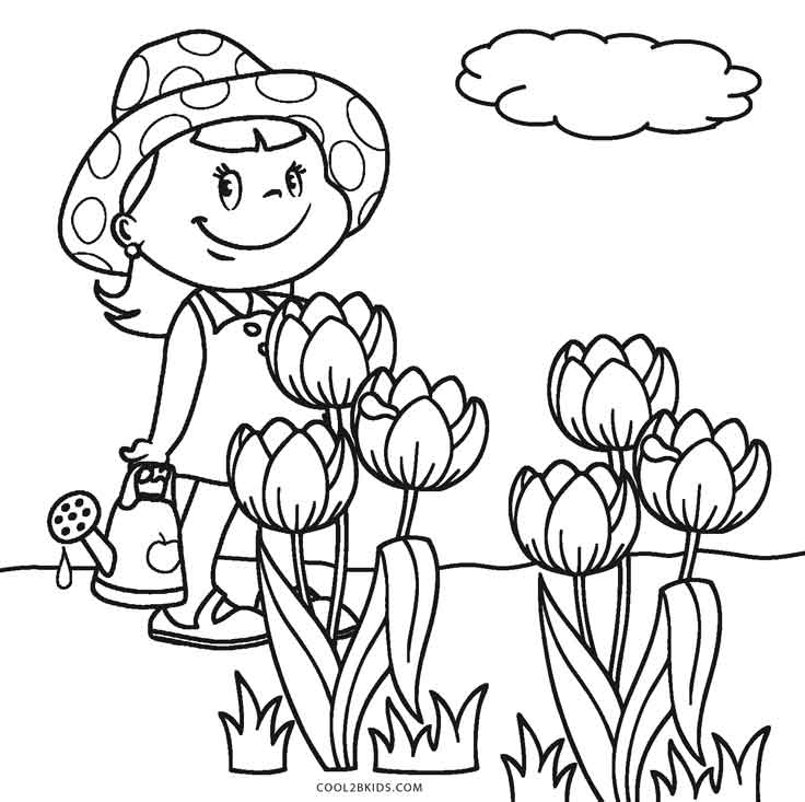 flower coloring pages kids - photo#27
