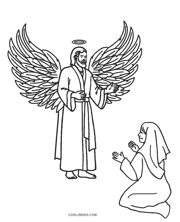 free chldrens angel coloring pages - photo#7