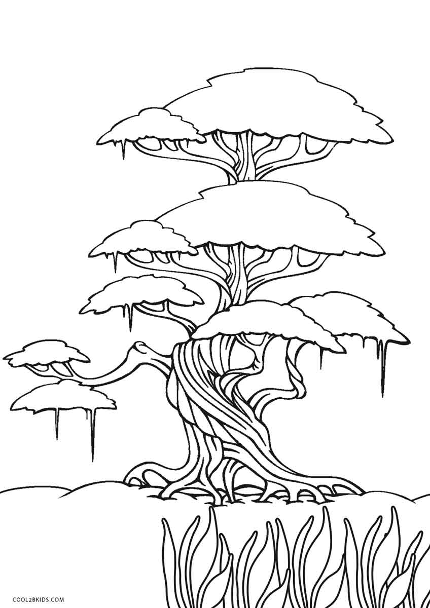 picture about Printable Tree Coloring Page titled Absolutely free Printable Tree Coloring Web pages For Young children Amazing2bKids