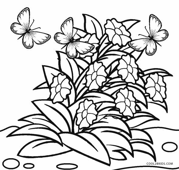Free printable flower coloring pages for kids cool2bkids spring flower coloring pages mightylinksfo