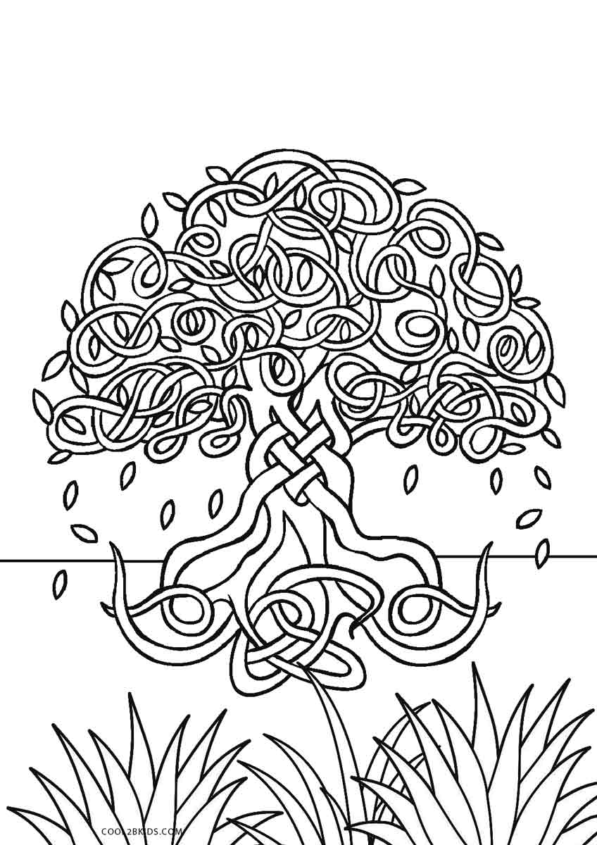 photograph regarding Printable Tree Coloring Page identified as Cost-free Printable Tree Coloring Webpages For Small children Amazing2bKids