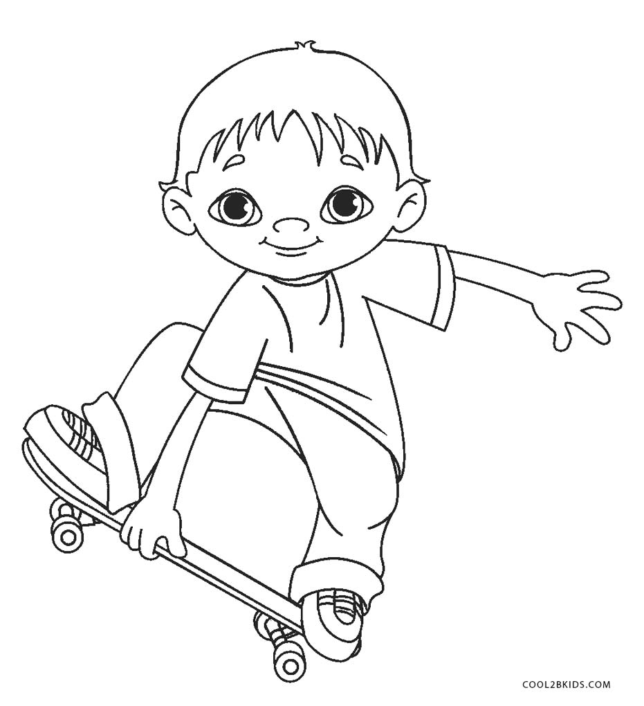 coloring pages kids boys - photo#17