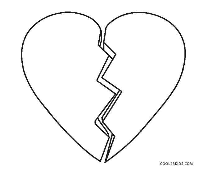 Hand Mirror Coloring Page Broken Heart Pages Intended L