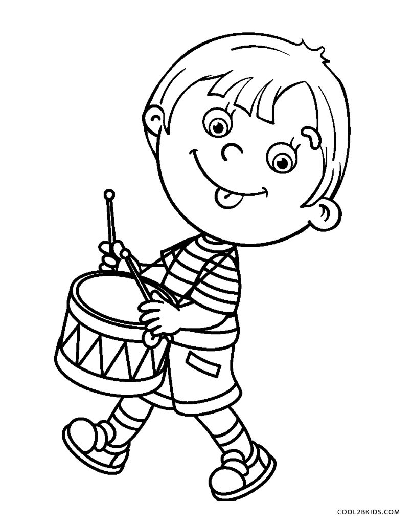 boy coloring pages for print - photo#8