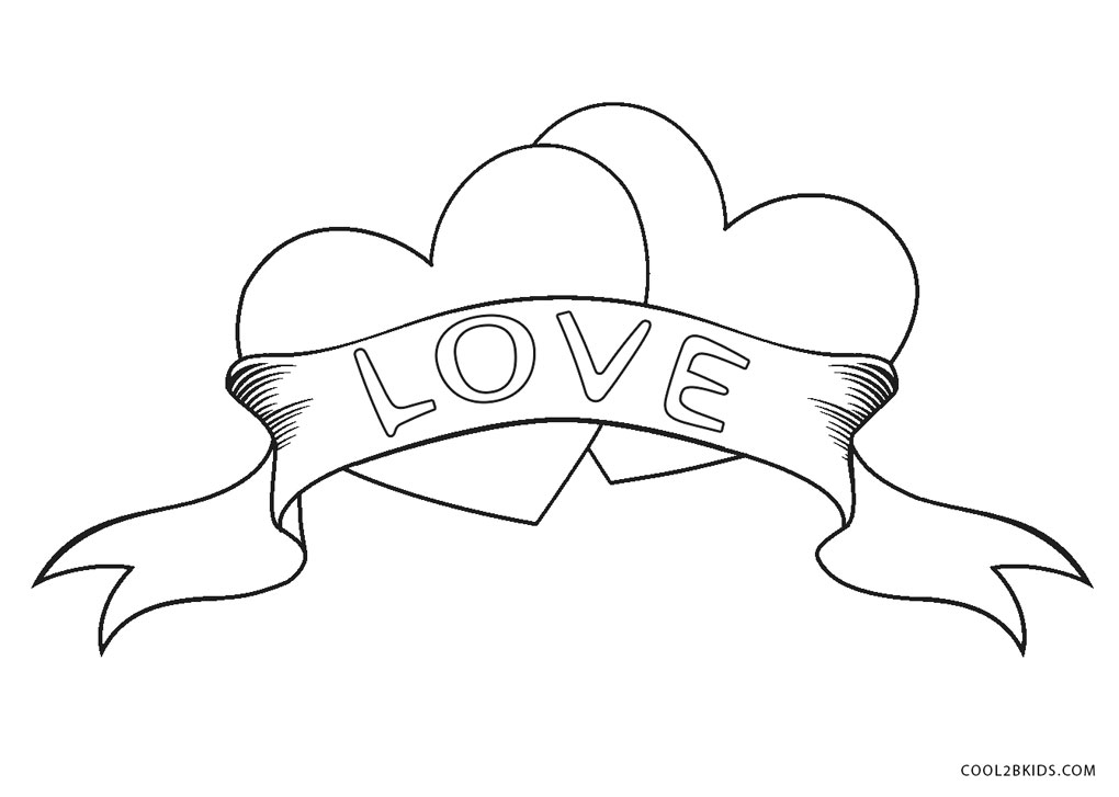 This is a photo of Massif Hearts Coloring Sheet