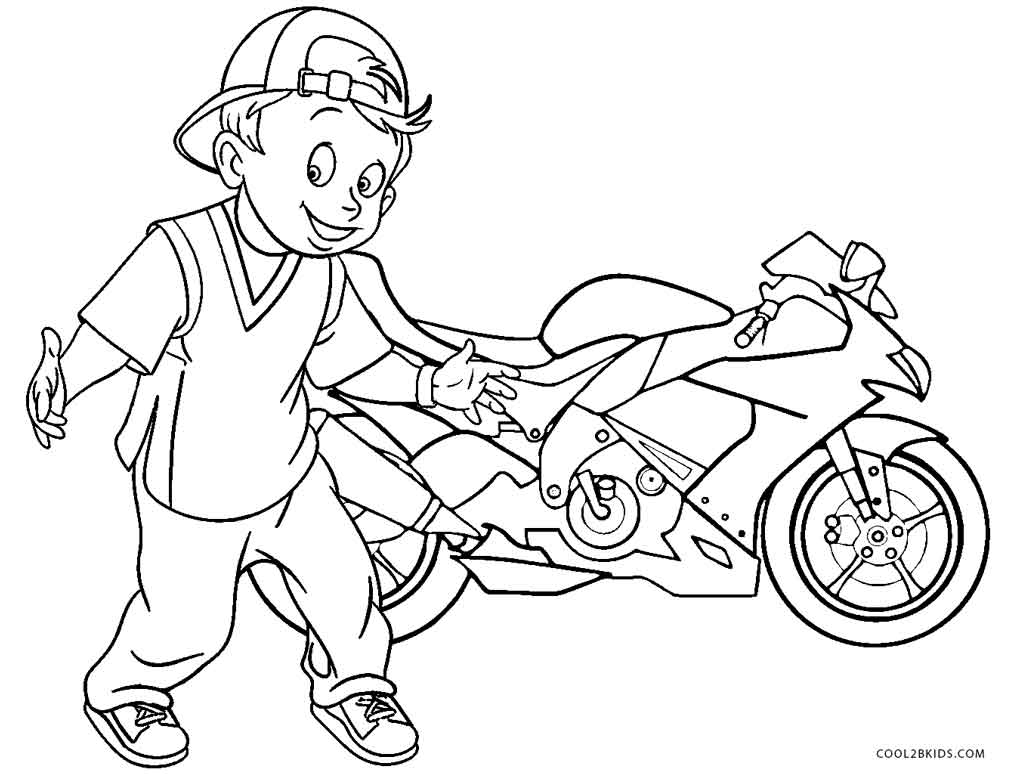 boy coloring pages for print - photo#1