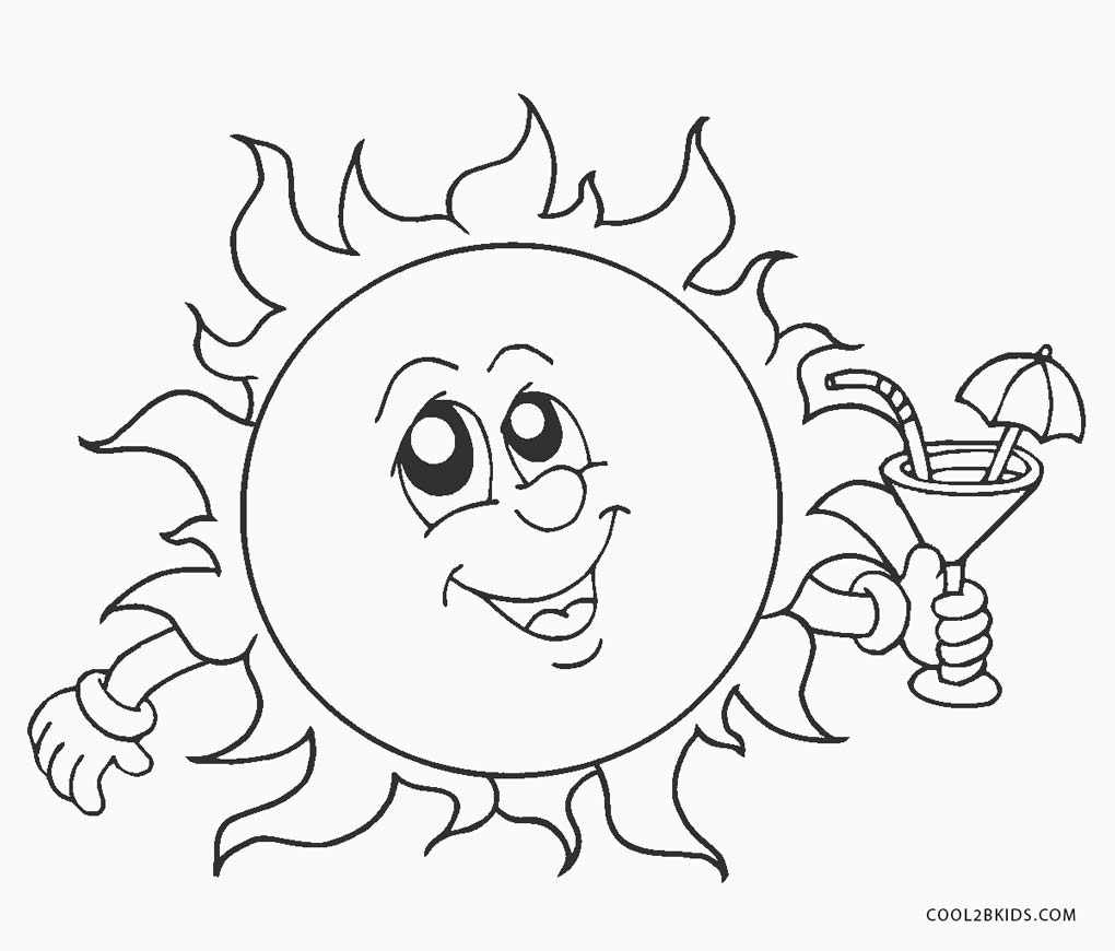 coloring pages sun - photo#9