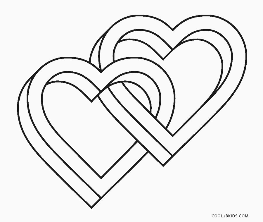 love hearts coloring pages - photo#9