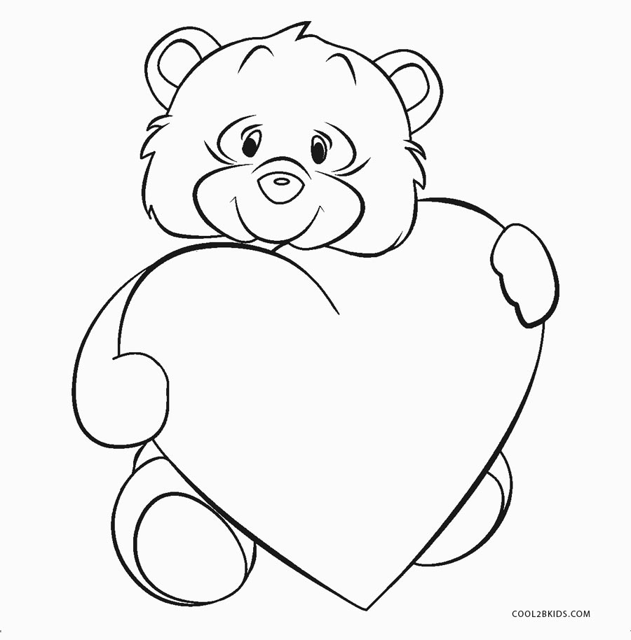 love heart pictures coloring pages - photo#32