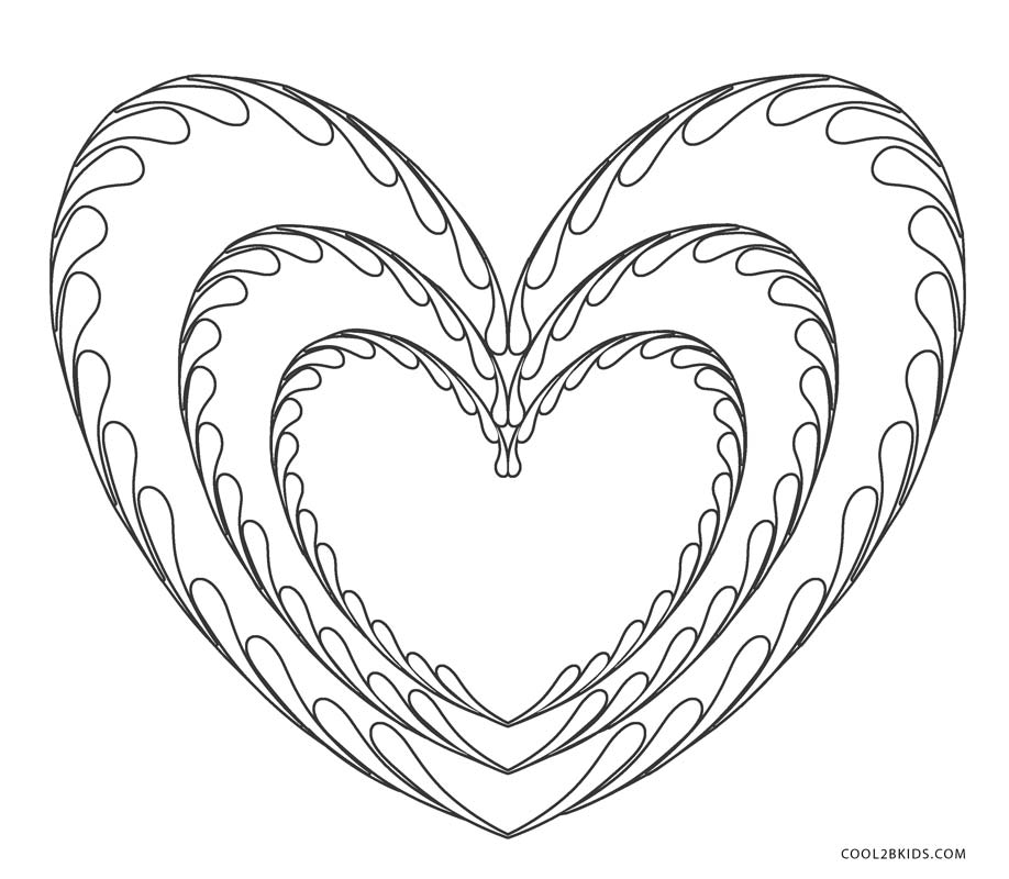 Bright image with regard to printable hearts to color