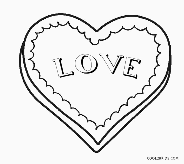 love hearts coloring pages - photo#46