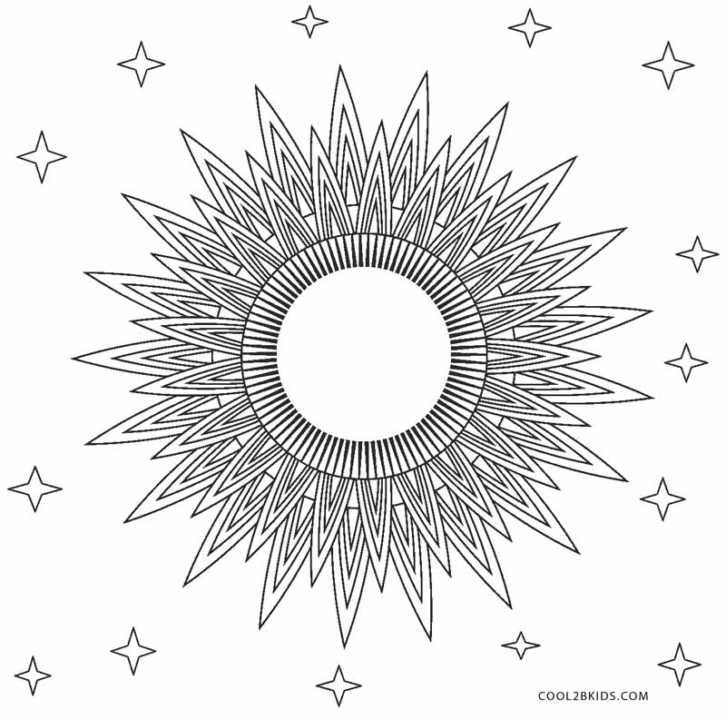 graphic regarding Printable Picture of the Sun identified as Totally free Printable Sunshine Coloring Internet pages For Young children Awesome2bKids