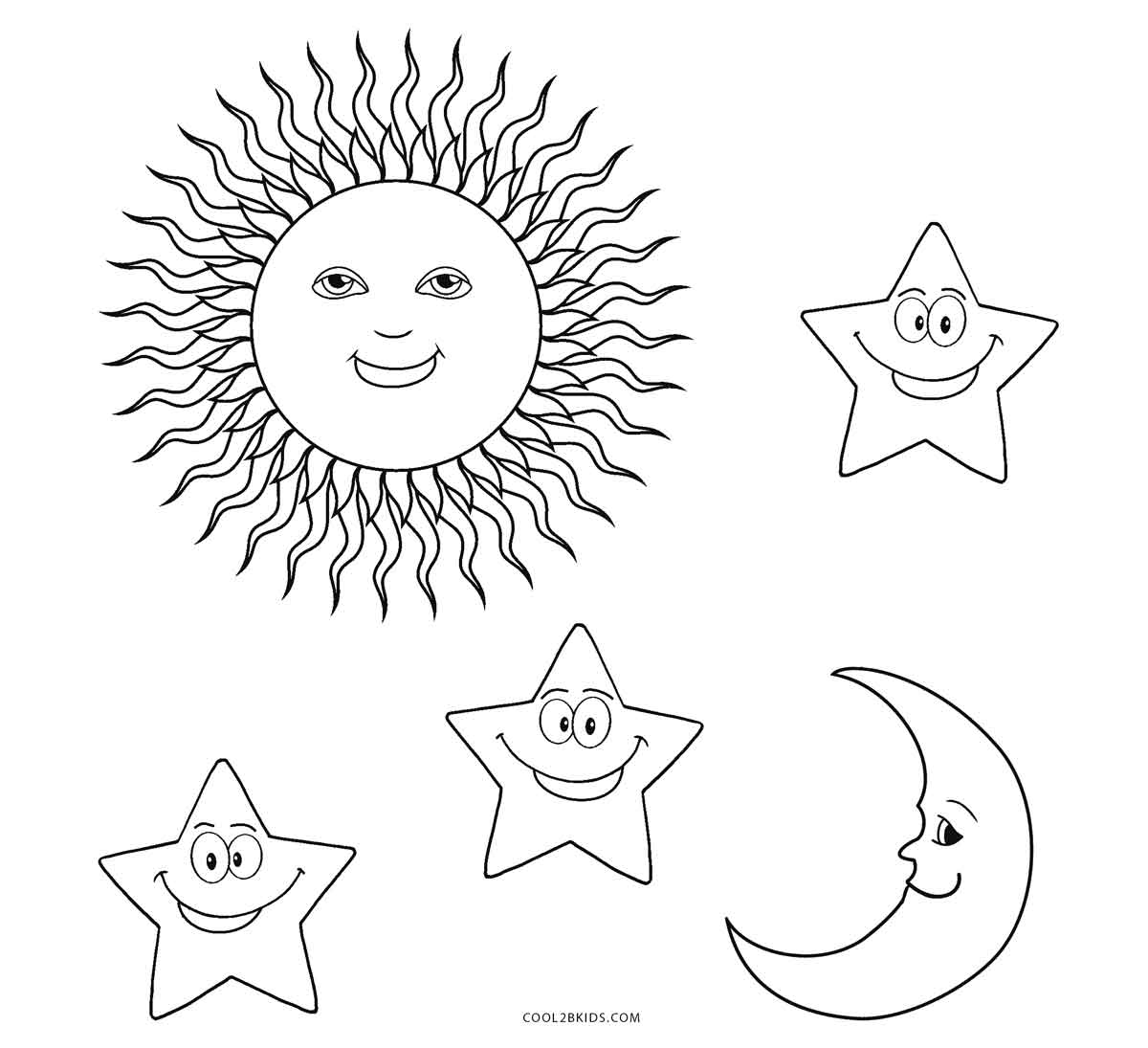 Free Printable Sun Coloring Pages