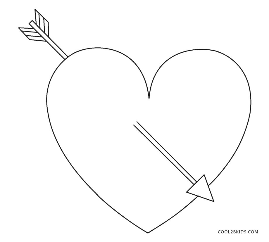 hearts coloring pages kids printable - photo#18