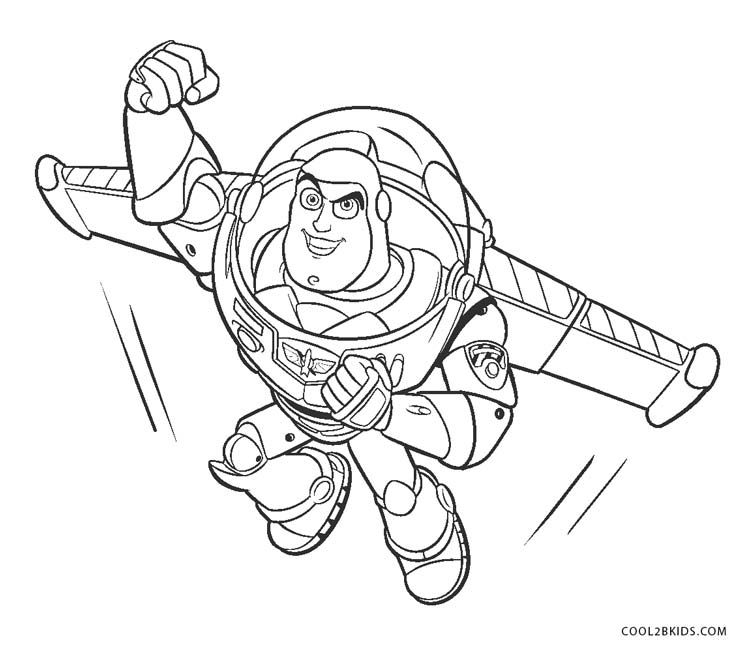 buzz lightyears wings coloring pages - photo#13