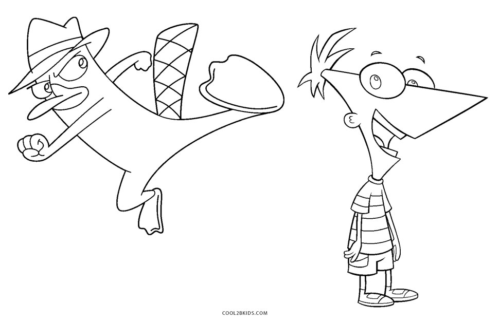 Free Printable Phineas and Ferb Coloring Pages For Kids | Cool2bKids