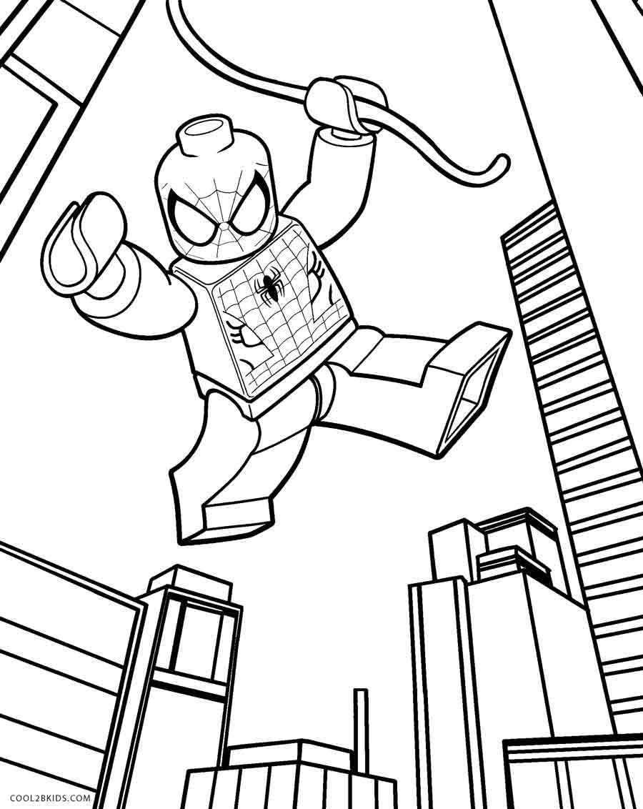 It's just a picture of Unforgettable Lego Spiderman Coloring Page