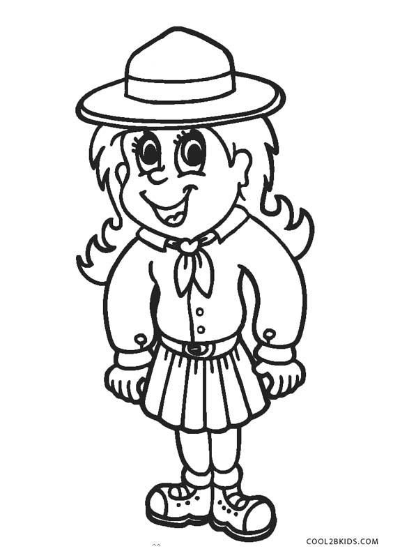 It is a graphic of Handy Girl Scout Coloring Pages